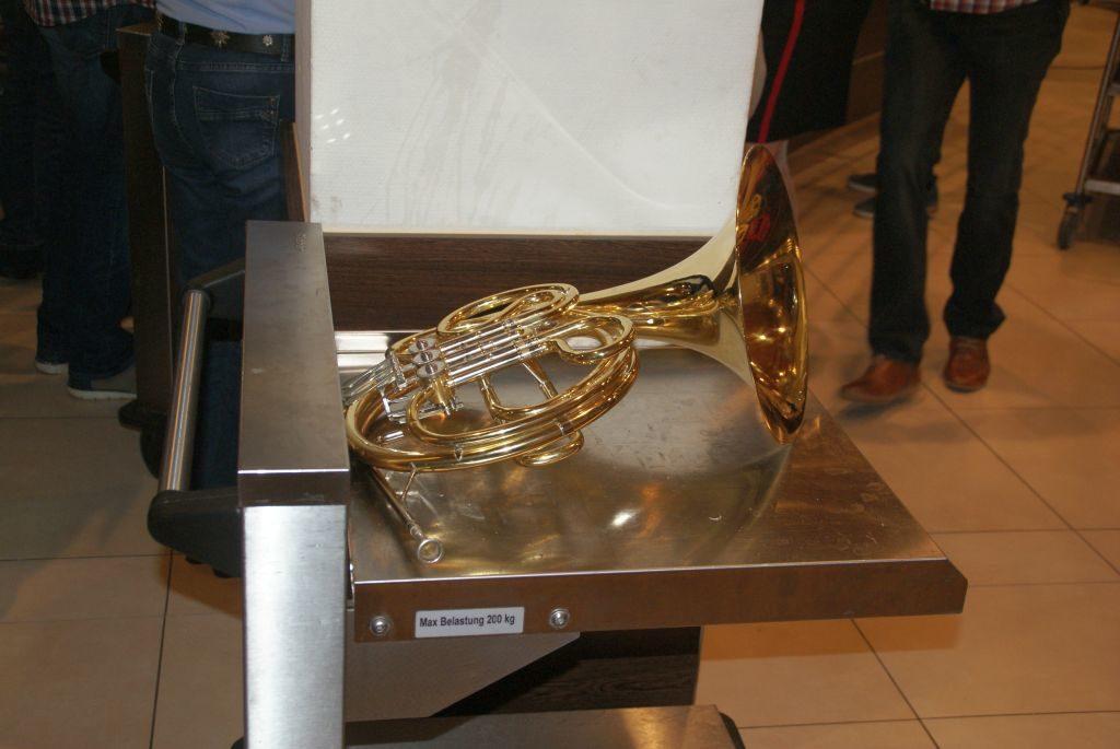 Auch das Horn macht Pause...