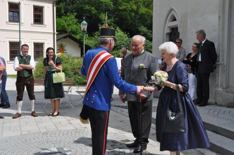 Eiserne Hochzeit von Johann und Paula Wagner
